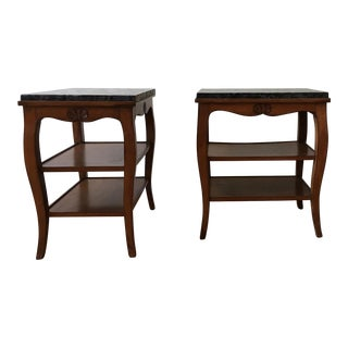Antique French Country Side Tables - a Pair