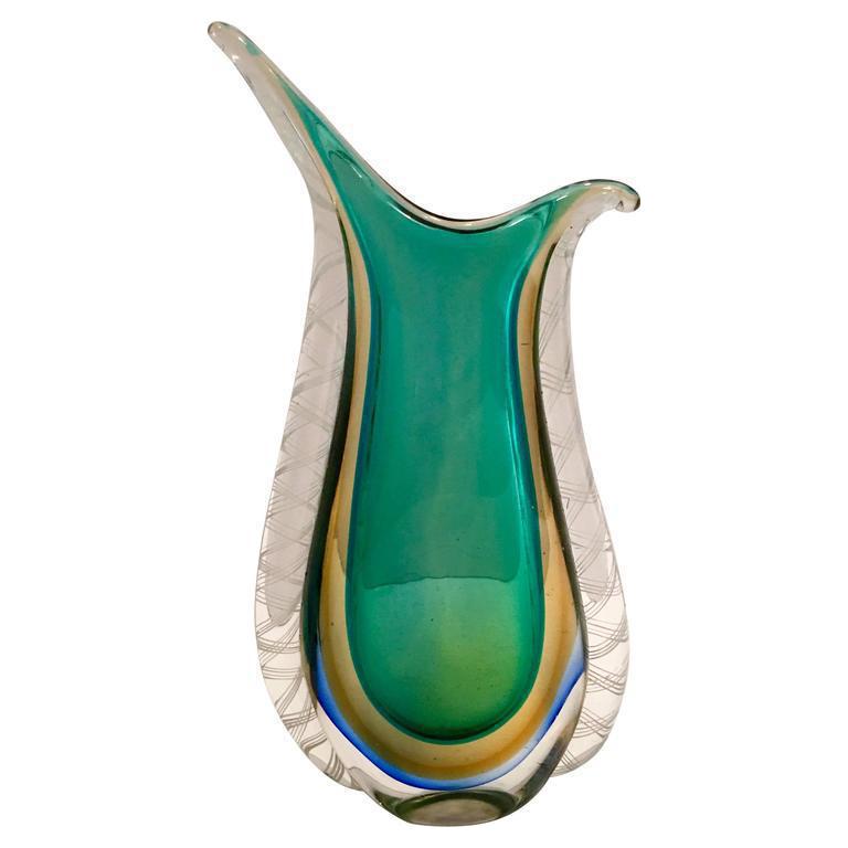 italian murano modern sommerso vase