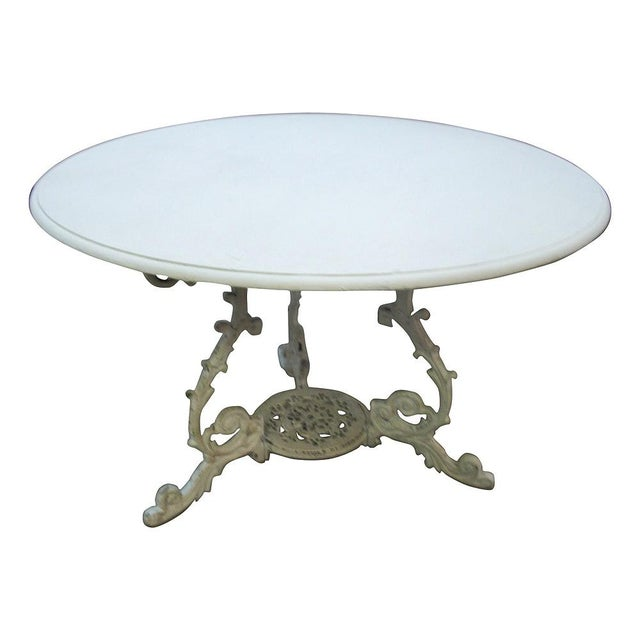 Image of Scrolled Iron Base Table