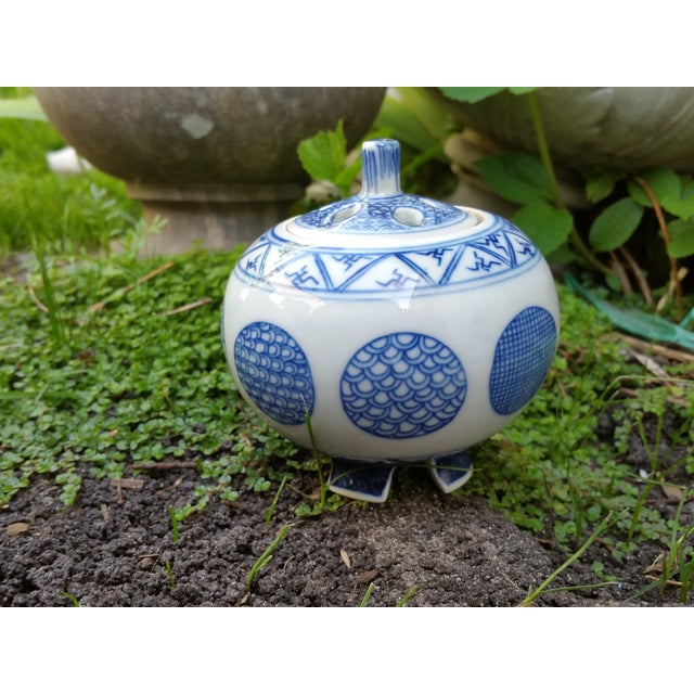 Chinese Blue & White Porcelain Cricket Cage - Image 3 of 4