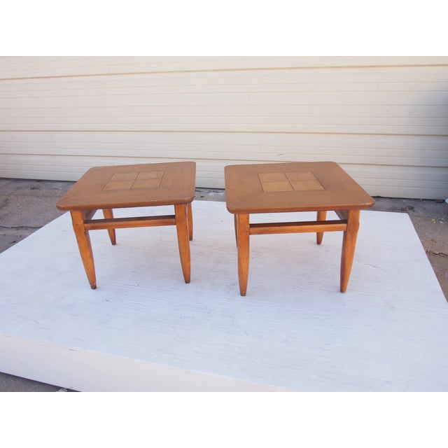 Parquet Lane Side Tables- A Pair - Image 4 of 4