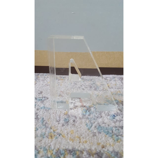 Mid Century Lucite Block Letter A - Image 2 of 4