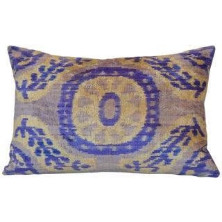 Uzbek Silk Ikat Velvet Pillow
