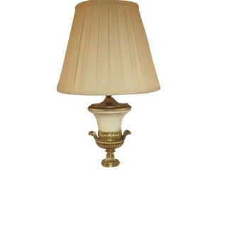 Gilt Brass & Marble Alabaster Urn Lamp