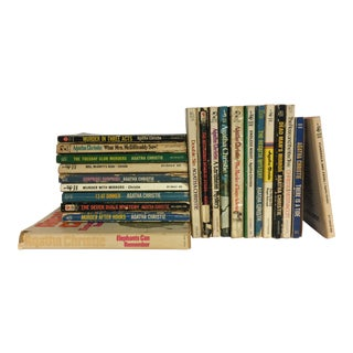 Agatha Christie Vintage Mystery Books - Set of 20