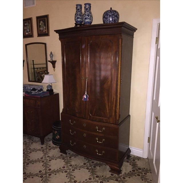 Baker Stately Homes Mahogany Chippendale Armoire - Image 2 of 5