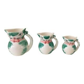 Vintage Lipper Mann Pixieware Pitchers - Set of 3