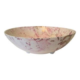 """Sascha Brastoff """"Surf Ballet"""" Pink & Gold Bowl"""