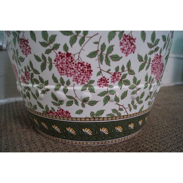 Vintage Floral Pattern Pottery Garden Seat - Image 7 of 10