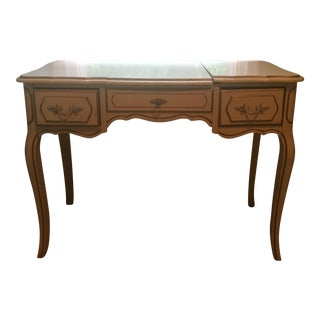 French Provincial Mirrored Vanity Table
