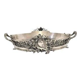 Antique Louis XVI Silver Plated Jardiniere Center Piece