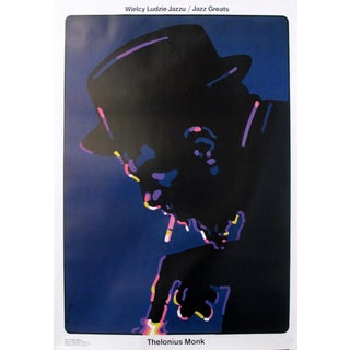 "1992 Polish ""Jazz Greats"" Poster, Thelonius Monk"