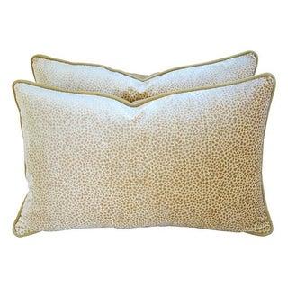 Colefax & Fowler Velvet & Mohair Pillows - A Pair