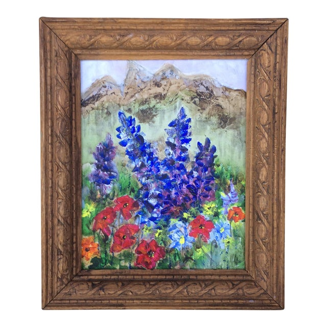 Barbara Gottschling Framed Flowers Painting - Image 1 of 3