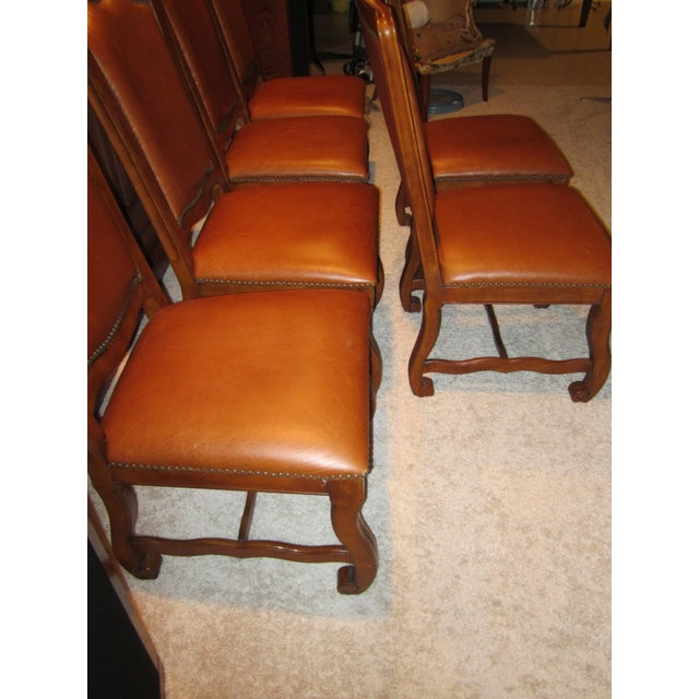 Stanley Leather Dining Chairs - Set of 6 - Image 8 of 11
