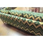 Image of Vintage Chrome and Chevron Print Knoll Sofa