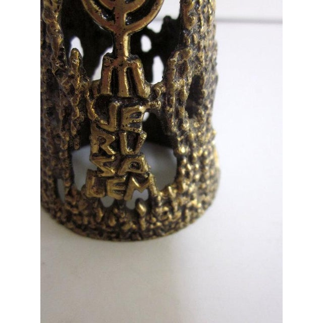 Wainberg Brass Brutalist Candle Holder - Image 5 of 6