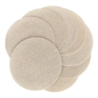 Modern Cream-Colored Beaded Place Mats - Set of 8