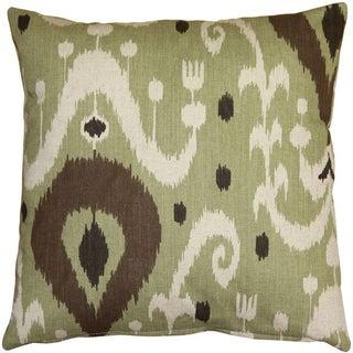 Pillow Decor - Indah Ikat Green 20x20 Throw Pillow