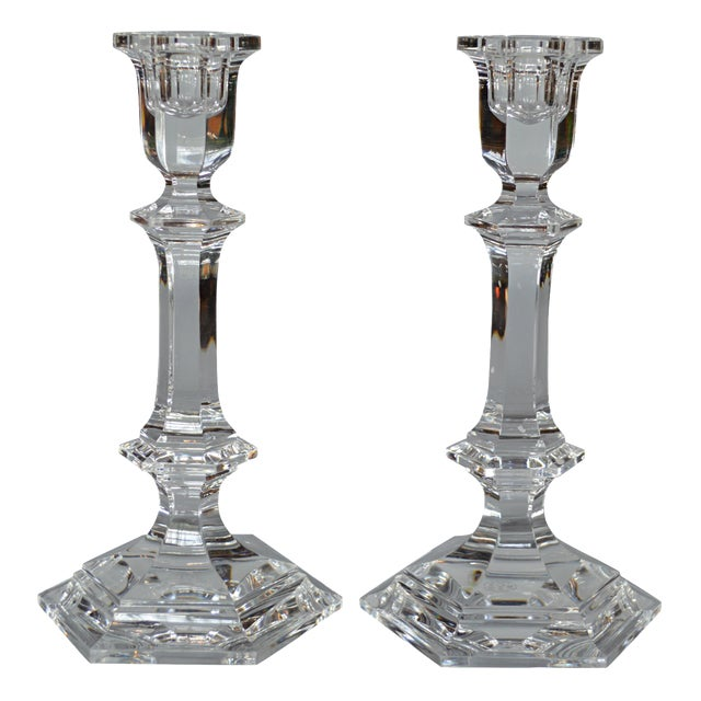 Baccarat Crystal Candlesticks - A Pair - Image 1 of 6