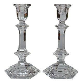 Baccarat Crystal Candlesticks - A Pair