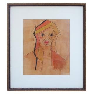 Framed Cubist Portrait