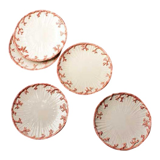 Coral Side Plates - Set of 5 - Image 1 of 3