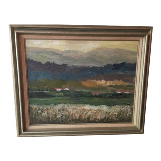 "Helen Oxford ""Field of Georgia"" Oil Painting"