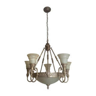 Brushed Metal Bowl Chandelier
