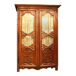 18th Century Louis Xiv Carved Armoire