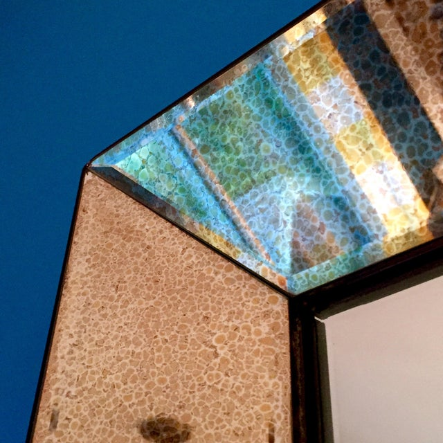 Beveled Glass Art Deco Wall Mirror - Image 6 of 6