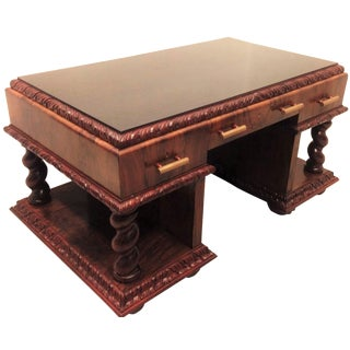 European Art Deco-Style Executive Desk