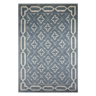 Safavieh Hand-Knotted Transitional Wool and Silk Rug - 6'x9'