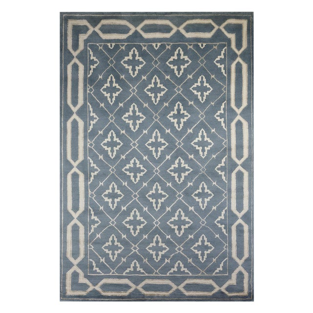 Safavieh Hand-Knotted Transitional Wool and Silk Rug - 6'x9' - Image 1 of 5