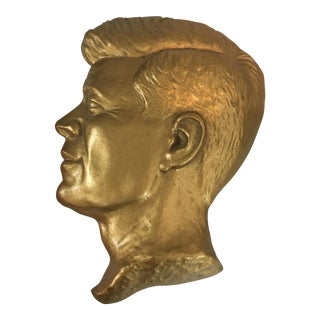 Gilt John F. Kennedy Paperweight