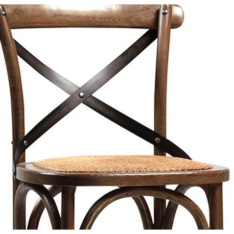Rattan Seat Oak Bar Stool - Image 2 of 2