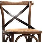 Image of Rattan Seat Oak Bar Stool