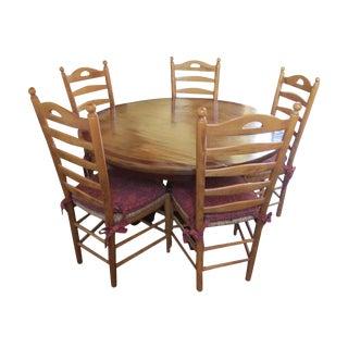Round Farmhouse Dining Set
