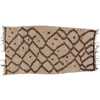 """Vintage Berber Moroccan Rug With Boho Chic Style - 3'1"""" X 4'8"""""""