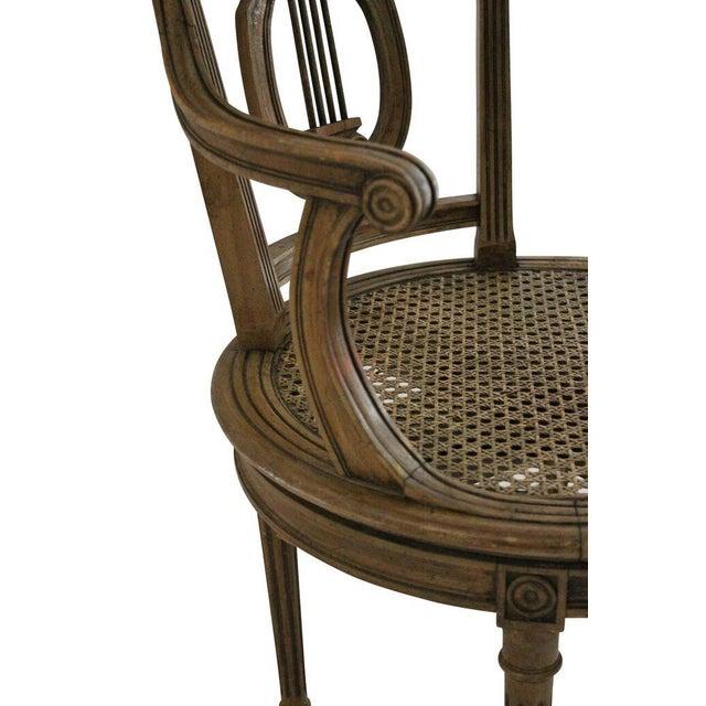 Walnut Swivel Vanity Chair - Image 3 of 3