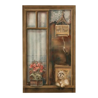 "Zuleyka Benitez ""Dog in the Window"" Painting"