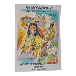 1975 Vintage Ira Moskowitz Exhibition Signed/Inscribed Poster