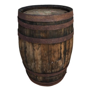 French Oak Small Wood Barrel
