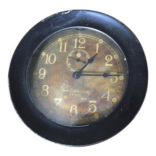 WWII U.S. Navy Seth Thomas Ship's Clock