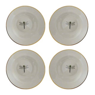 Queen's Fine China Dragonfly Soup Bowls - Set of 4
