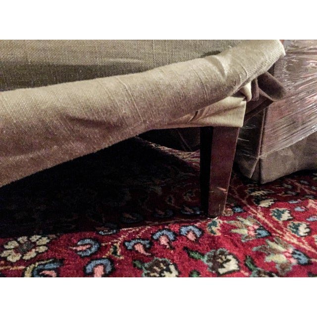 Baker Belgian Linen Club Chairs - A Pair - Image 9 of 9