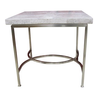 Bernhardt Steel Natural Stone End Table