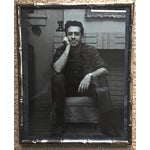 Image of Italian Faux Bamboo Chrome Portrait Frame