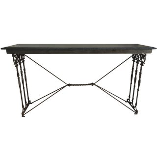 Marble Top Iron Console Table