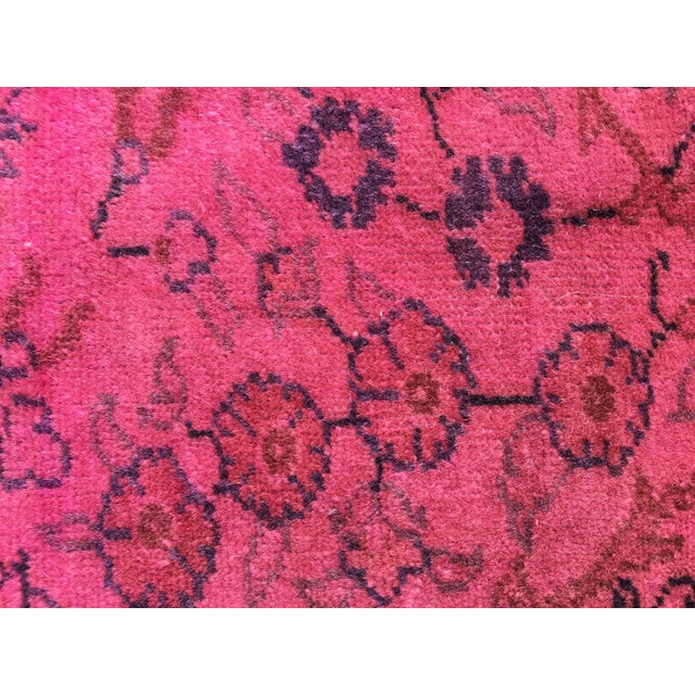 Hot Pink Overdyed Runner Rug - Image 8 of 9